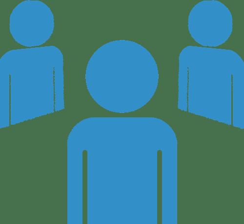 Symbole einiger Personen die zu den Anwendern von TopKontor Handwerk gehören