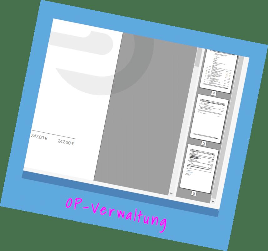 Modul OP-Verwaltung von TopKontor Handwerk