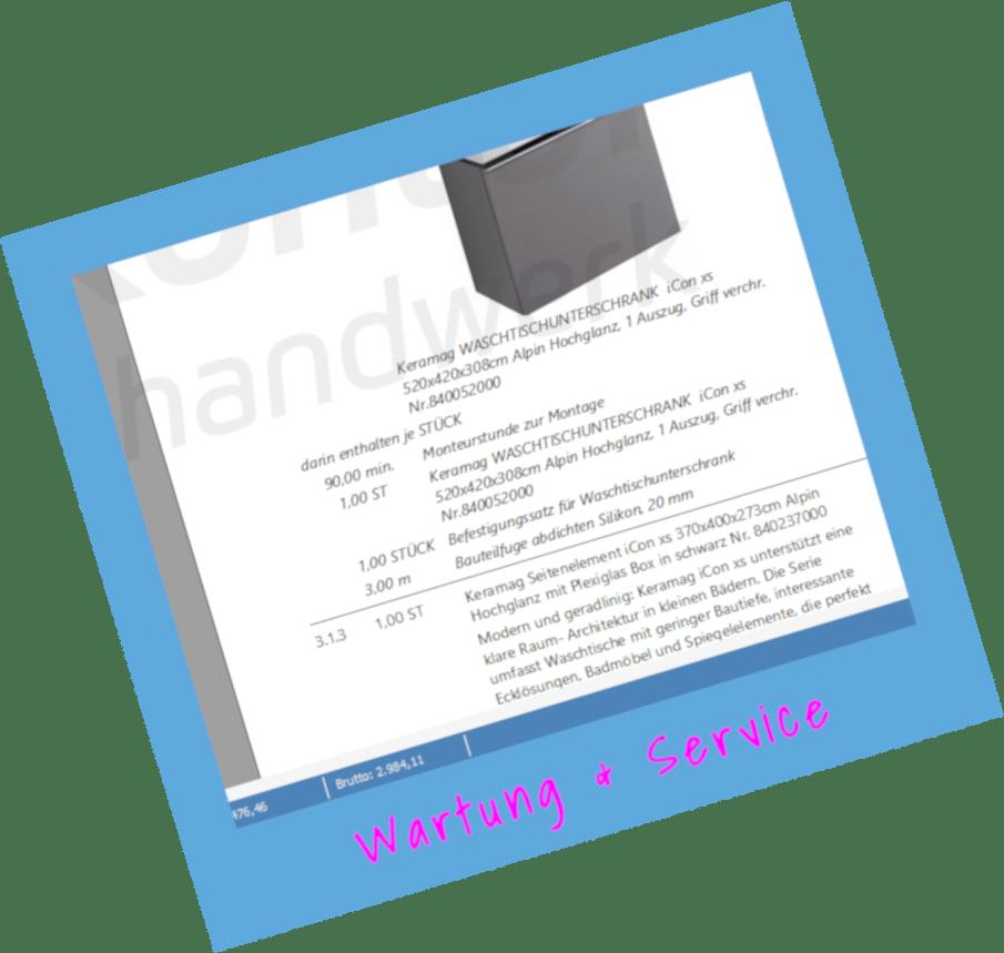 Modul Wartung & Service von TopKontor Handwerk