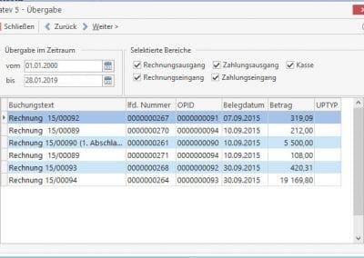 Datenübergabe an den Steuerberater TopKontor Handwerk OP-Verwaltung