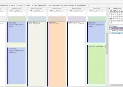 Kalender aus TopKontor Handwerk - Grundmodul