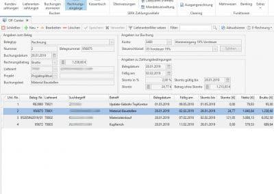 Offene Lieferantenrechnungen TopKontor Handwerk OP-Verwaltung
