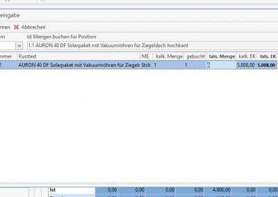 Mengeneingabe aus TopKontor Handwerk Nachkalkulation