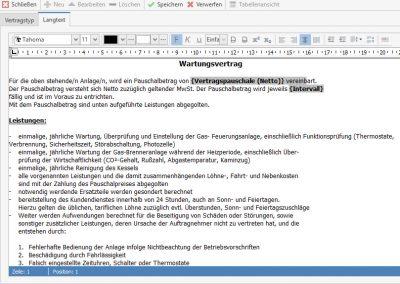 Textvorlage für Vertrag TopKontor Handwerk Wartung und Service