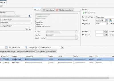 Fällige Servicetermine aus den Wartungsaufgaben - Modul Wartung und Service TopKontor Handwerk