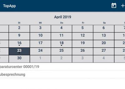 Kalender in TopApp