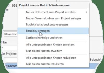 Anlegen einer BauDoku mit Baudoku-Modul von TopKontor Handwerk