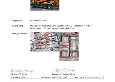 Bautagebuch Seite 2 aus Baudoku TopKontor Handwerk