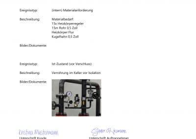 Bautagebuch Seite 3 aus Baudoku TopKontor Handwerk