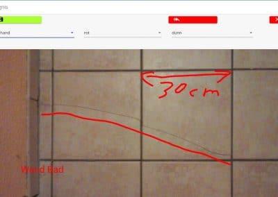 Markierungen im Bild mit der App bau:doku